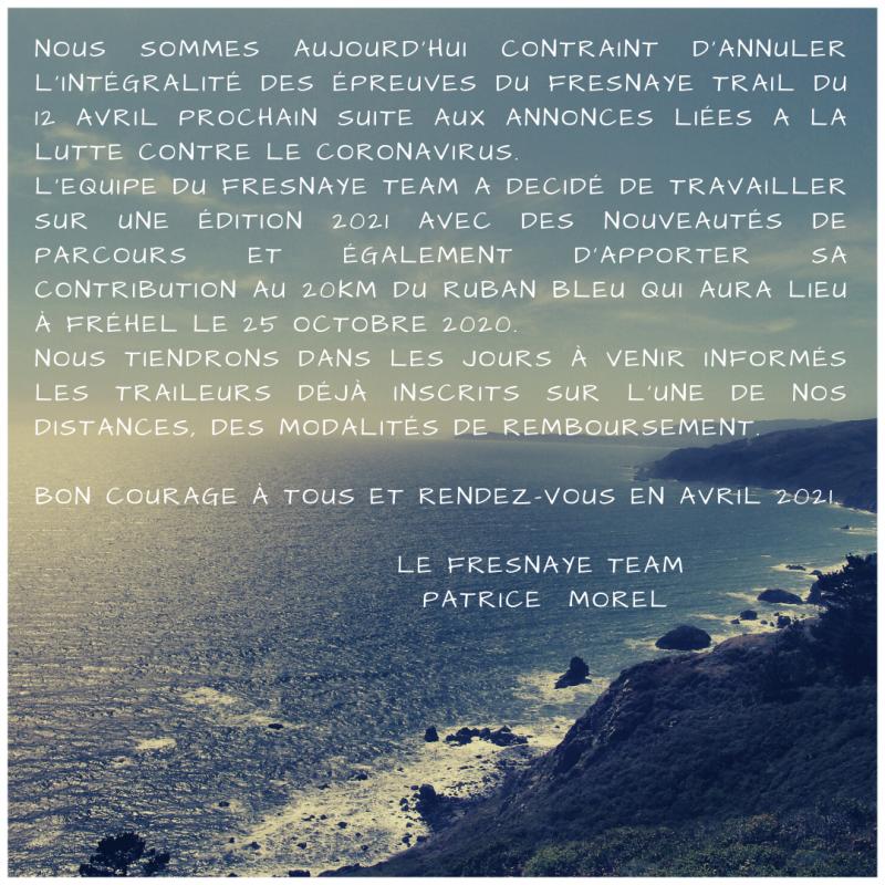 Annulation fresnaye trail 2020