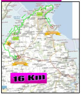 Plan 16 km